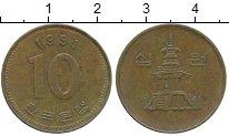 Изображение Дешевые монеты Южная Корея 10 вон 1991 Латунь XF