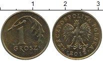 Изображение Дешевые монеты Польша 1 грош 2012 Латунь-сталь XF