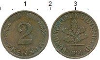 Изображение Дешевые монеты Германия 2 пфеннига 1981 Латунь XF