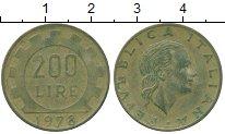 Изображение Дешевые монеты Италия 200 лир 1978 Латунь XF-