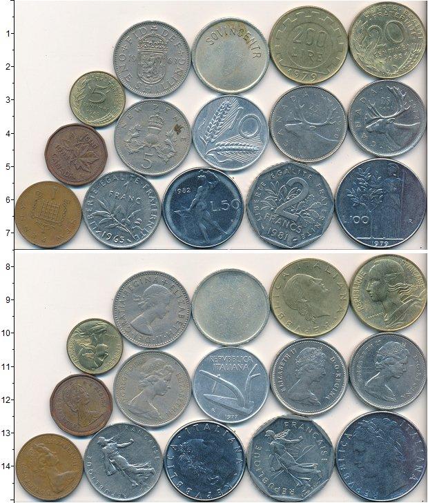 Изображение Лоты монет для начинающих нумизматов Монеты стран мира Лот №01672 0