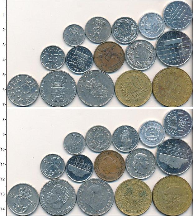 Изображение Лоты монет для начинающих нумизматов Монеты стран мира Лот №01674 0