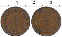 Изображение Дешевые монеты Германия 1 пфенниг 1924 Медь XF
