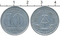 Изображение Дешевые монеты ГДР 10 пфеннигов 1968 Алюминий VF