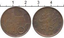 Изображение Дешевые монеты Чехия 10 крон 1996 Медь XF-
