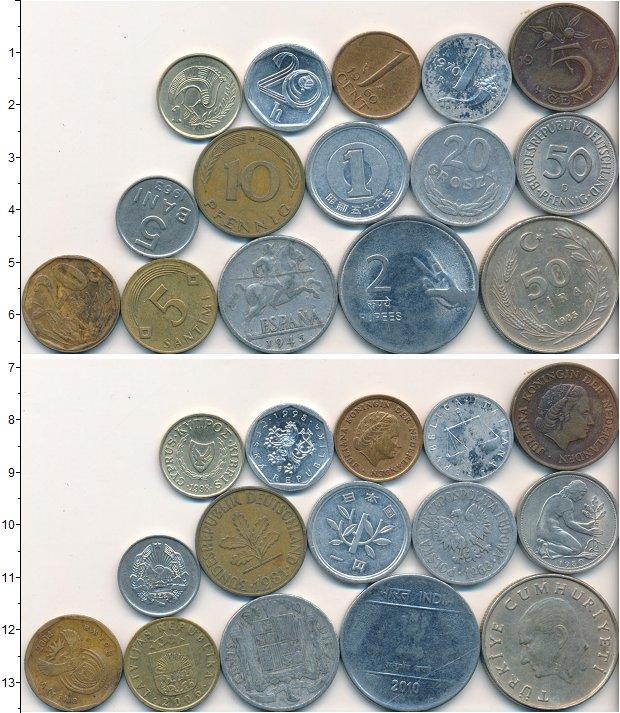 Изображение Лоты монет для начинающих нумизматов Монеты стран мира Лот №01686 0