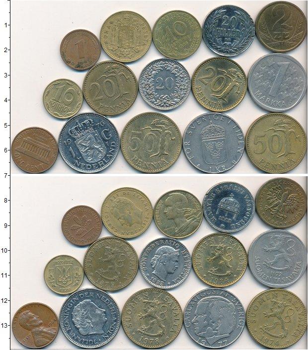 Изображение Лоты монет для начинающих нумизматов Монеты стран мира Лот №01692 0