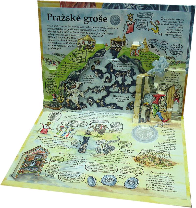 Изображение Подарочные монеты Европа Чехия Пражский грош 2019 Серебро UNC