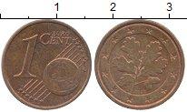 Изображение Дешевые монеты Германия 1 евроцент 2002 сталь с медным покрытием XF-