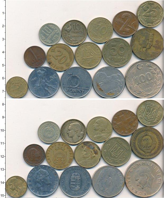 Изображение Лоты монет для начинающих нумизматов Монеты стран мира Лот №01706 0