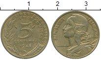 Изображение Дешевые монеты Франция 5 сентим 1985 Латунь XF-