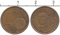 Изображение Дешевые монеты Франция 1 евроцент 1999 сталь с медным покрытием XF-