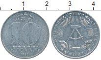 Изображение Дешевые монеты ГДР 10 пфеннигов 1980 Алюминий XF-