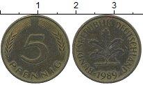 Изображение Дешевые монеты ФРГ 5 пфеннигов 1989 Бронза XF
