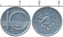 Изображение Дешевые монеты Чехия 10 хеллеров 1993 Алюминий XF