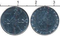 Изображение Дешевые монеты Италия 50 лир 1990 Сталь XF