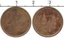 Изображение Дешевые монеты Испания 2 евроцента 2004 Медь XF-