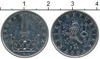 Изображение Дешевые монеты Чехословакия 1 крона 2006 Медно-никель XF