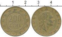 Изображение Дешевые монеты Италия 200 лир 1979 Латунь XF-