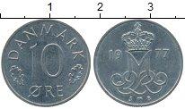 Изображение Дешевые монеты Дания 10 эре 1977 Медно-никель XF