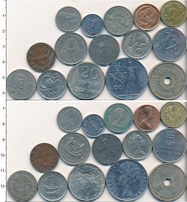 Изображение Лоты монет для начинающих нумизматов Монеты стран мира Лот №01721 0