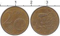 Изображение Дешевые монеты Франция 2 евроцента 1999 сталь с медным покрытием XF