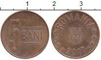Изображение Дешевые монеты Румыния 5 бани 2017 сталь с медным покрытием XF
