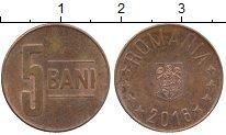 Изображение Дешевые монеты Румыния 5 бани 2016 сталь с медным покрытием VF+