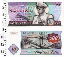 Изображение Банкноты Заир 500 заир 1985  UNC