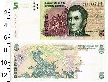 Продать Банкноты Аргентина 5 песо 1998
