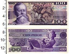 Изображение Банкноты Мексика 100 песо 1982  UNC Венустиано Карранс.К