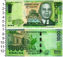Изображение Банкноты Малави 1000 квач 2017  UNC Хастингс Банда