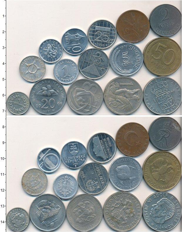 Изображение Лоты монет для начинающих нумизматов Монеты стран мира Лот №01762 0