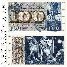 Изображение Банкноты Швейцария 100 франков 1967  XF