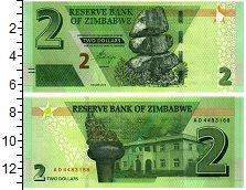 Изображение Банкноты Зимбабве 2 доллара 2019  UNC