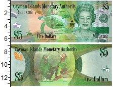 Изображение Банкноты Каймановы острова 5 долларов 2010  UNC