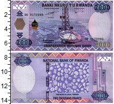 Изображение Банкноты Руанда 2000 франков 2014  UNC