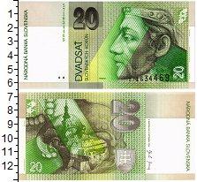 Изображение Банкноты Европа Словакия 20 крон 2004  UNC