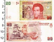 Изображение Банкноты Южная Америка Аргентина 20 песо 0  UNC