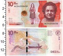 Изображение Банкноты Колумбия 10000 песо 2016  UNC
