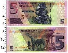 Изображение Банкноты Африка Зимбабве 5 долларов 2019  UNC