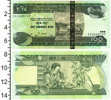Изображение Банкноты Эфиопия 100 бирр 2015  UNC
