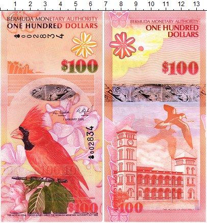 Изображение Банкноты Бермудские острова 100 долларов 2009  UNC