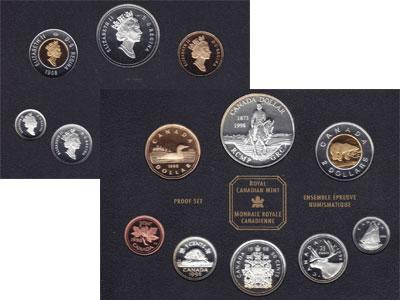 Изображение Подарочные монеты Северная Америка Канада Набор монет 1998 года в качестве proof 1998  Proof