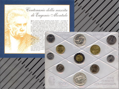 Изображение Подарочные монеты Италия Набор монет 1996 года 1996