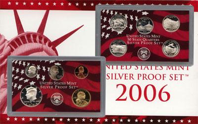 Изображение Подарочные монеты Северная Америка США Набор монет 2006 года в качестве proof 2006  Proof