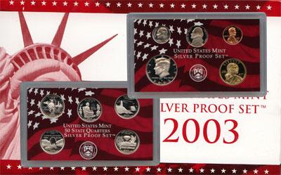 Изображение Подарочные монеты Северная Америка США Набор монет 2003 года в качестве proof 2003  Proof
