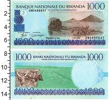 Изображение Банкноты Руанда 1000 франков 1998  UNC-