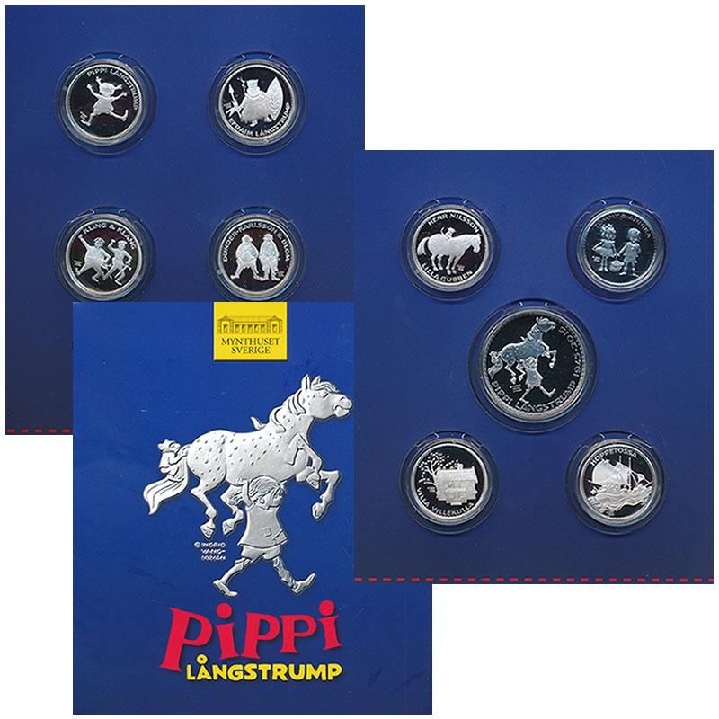 Изображение Подарочные монеты Европа Швеция Сказки Астрид Линдгрен 2002  Proof