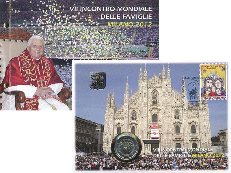 Изображение Подарочные монеты Европа Ватикан 2 евро 2012 Биметалл UNC